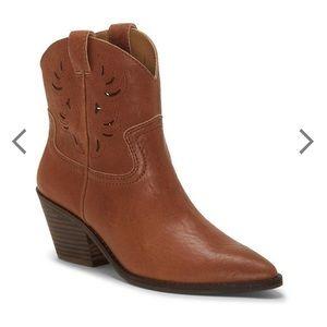 Lucky Talouse Western Leather Bootie